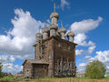 Church of intercession in the village rikasovo russia wooden virgin mary near arkhangelsk Stock Photos