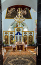 Church interior in the monastery ukraine mgar spaso preobrezhanskiy savior transfiguration Stock Image