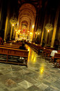 Church interior- Morelia, Mexico Royalty Free Stock Photo