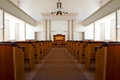 Church interior of an old simple country Royalty Free Stock Photography