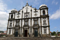 Church on the island of flores azores portugal in santa cruz Royalty Free Stock Photo