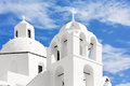 Church on island of santorini oia greece the Royalty Free Stock Photo