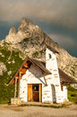 Church in italy dolomites mountain Stock Images