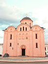 Church in kiev ancient podol district ukraine Royalty Free Stock Photo