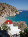 Church kira panagia on karpathos greece the picturesque the greek island of Stock Photo