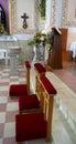 Church kneeler Royalty Free Stock Photo