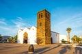 Church in La Oliva village on Fuerteventura island Royalty Free Stock Photo