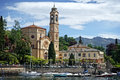 Church Lake Como Royalty Free Stock Photo