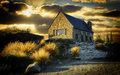 Church Lake Tekapo Royalty Free Stock Photo