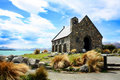 Church in Lake Tekapo, New Zealand Royalty Free Stock Photo