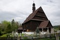 Church in liberk czech republic wooden village eastern bohemia Royalty Free Stock Image