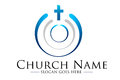 Church logo illustration drawing representing a Royalty Free Stock Image