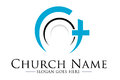 Church logo illustration drawing representing a Royalty Free Stock Photos