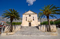 Church on makarska town square croatia old Stock Photography