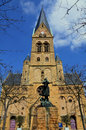 Church in metz montigny les with the monument of joana d arc frot Stock Photo