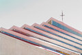Church modern design in rose colors and Royalty Free Stock Photography