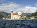 Church of the mother of god on the island of our lady of the rocks kotor bay montenegro perast september stone with location two Stock Photo