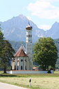 Church and mountain germany landscape bavaria Stock Images