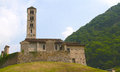 Church of mountain sant alessandro in lasnigo como italy Stock Photo