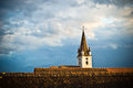 Church with multiple roofs in front Royalty Free Stock Image