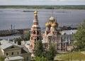 Church of the nativity of our lady stroganov church in nizhny novgorod russia Stock Images