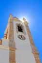 Church nossa senhora da conceicao in portimao tower of portugal Royalty Free Stock Photography