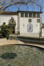 Church nossa senhora do carmo guimaraes portugal and fountain viewed from jardim Stock Photography