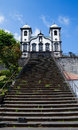 Church of nossa senhora do monte madeira our lady the mountain facade beyond its staircase funchal portugal Stock Photography