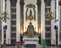 Church notre dame aux riches claires brussels belgium september interior of built in in center of the city Royalty Free Stock Photos