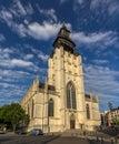 Church notre dame de la chapelle in brussels belgium Stock Images