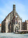 Church Nuremberg Bavaria Germany Stock Image