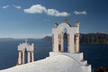Church oia in greece aegean sea Stock Photos