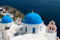 Church at Oia of Santorini island, Greece Royalty Free Stock Images