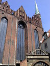 Church old chrch in poland gdansk old town in skyblue beautiful day Stock Images