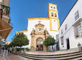Church in the Old Town of Marbella Royalty Free Stock Photo
