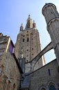 Church of our lady bruges in in bruxelles Royalty Free Stock Image