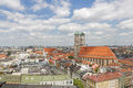 Church of our lady frauenkirche in munich germany city with the with scenic view over city Stock Photos