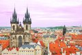 Church of Our Lady in front of Tyn in Prague Royalty Free Stock Photo