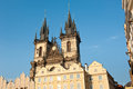 Church of Our Lady in front of Tyn, Prague, Czech Republic Royalty Free Stock Photo