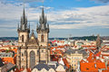 Church of our Lady - the main church of Prague Royalty Free Stock Photos