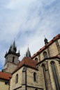 Church of our lady in Prague, Czech Republic Stock Image