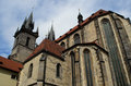 Church of our lady in Prague, Czech Republic Royalty Free Stock Photos