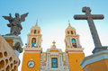 Church of Our Lady of Remedies in Cholula. Mexico Royalty Free Stock Photo
