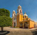 Church of Our Lady of Remedies at the top of Cholula pyramid - Cholula, Puebla, Mexico Royalty Free Stock Photo