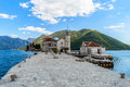 Church of our lady of the rocks perast montenegro Royalty Free Stock Photos