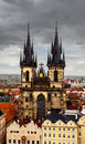 Church of our lady before tyn prague czech republic Stock Images