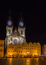 Church of our lady before tyn in prague czech republic Royalty Free Stock Photo