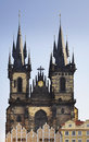 Church of Our Lady before Tyn in Prague. Czech Republic Royalty Free Stock Photo