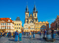 Church of our Lady before tyn on Prague Royalty Free Stock Photo