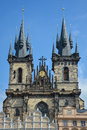 The church of our Lady Tyn in Prague, Czech Republic Royalty Free Stock Photo